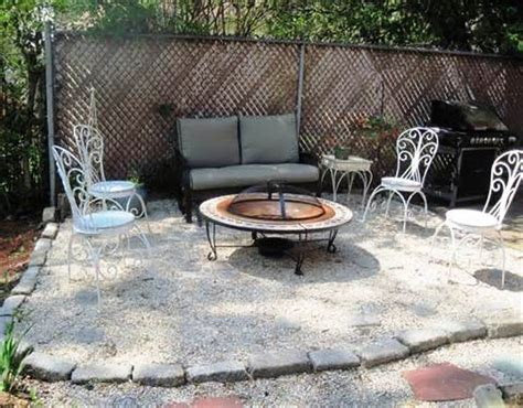 pea gravel patio ideas outdoor furniture gravel