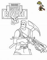 Fortnite Coloring Pages Printable Survivalist sketch template