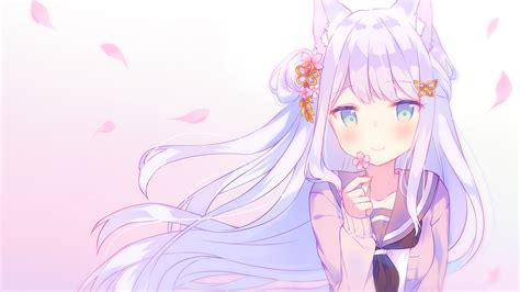 Download 1920x1080 Anime Cat Girl Cute Loli Long Hair