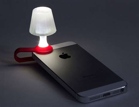 light on iphone read by the light of your iphone with this clip on
