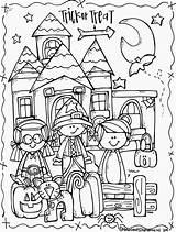 Melonheadz Halloween Clipart Doris Lucy sketch template