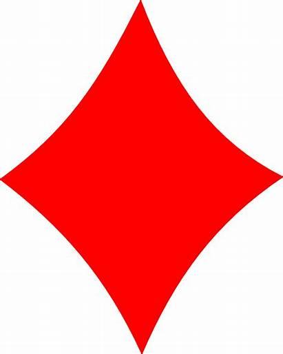 Diamond Card Cards Clipart Playing Clip Diamonds