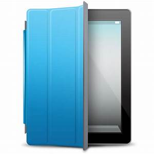 iPad Black blue cover Icon | iPad 2 Iconset | Fast Icon Design