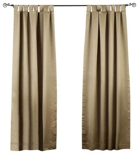 olive green tab top 90 blackout curtain drape panel