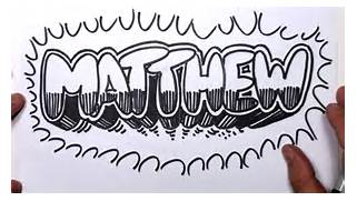 How To Write Cool Letters On Paper To Draw Graffiti Letters Write Matthew In Bubble Letters YouTube