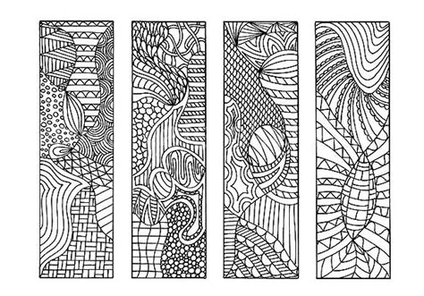 tribal drawing bookmarks coloring pages  place  color