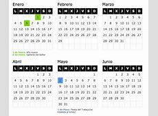 Calendar CALENDARIO LABORAL 2017