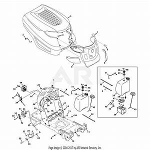 Troy Bilt 13bx78ks011 Bronco  2013  Parts Diagram For Hood