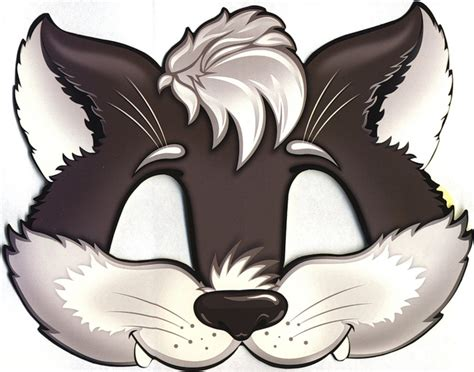 cut out templates wolf 64 free kids face masks templates for halloween to print