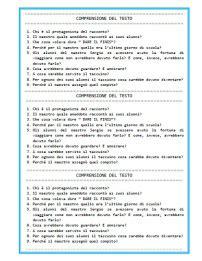 comprensione testo classe terza elementare classe terza maestra p i c