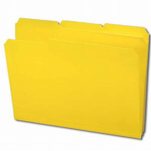 Smead Yellow Poly File Folder