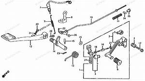 Honda Motorcycle 1986 Oem Parts Diagram For Gearshift