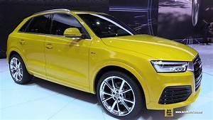 Audi Q3 2016 : 2016 audi q3 tfsi quattro s line exterior and interior walkaround 2015 detroit auto show ~ Maxctalentgroup.com Avis de Voitures