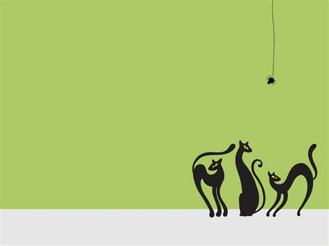 Powerpoint Templates For Picture Slideshow by Cats Backgrounds Animals Green Templates