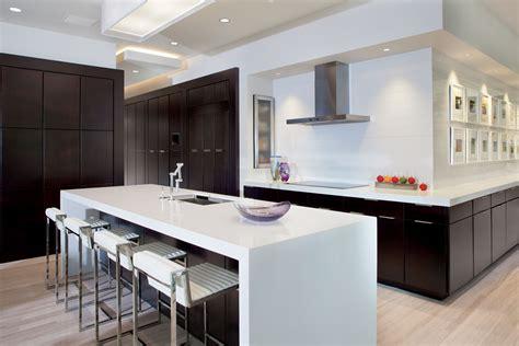 Black Kitchen Island Table - la barra americana en las cocinas del siglo xxi