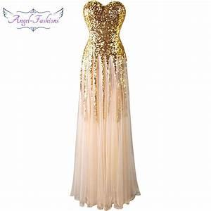 angel fashions sweetheart vintage 1920s golden sequins With robe de cortege femme