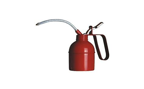 Red Lever Type Steel Pump Oil Can