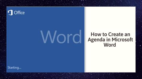 create  agenda  microsoft word youtube
