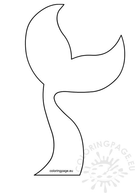 mermaid tail template printable coloring page