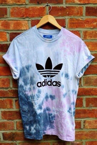 T Shirt Adidas Batik Diy Colours Hippie Vintage My Style