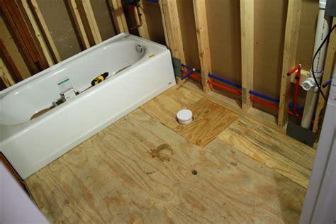 Preparing The Bathroom Floor For Tiling Blog