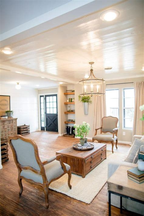 decorating with shiplap ideas from hgtv s fixer small towns living rooms and chip and - Joanna Gaines Ceiling Paint Color