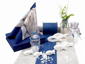 Tischdeko Blau Weiß : tischdeko kommunion konfirmation blau grau wei fisch set 20 personen kommunion konfirmation ~ Markanthonyermac.com Haus und Dekorationen