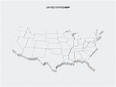 Map 3d Powerpoint States United Templates Template