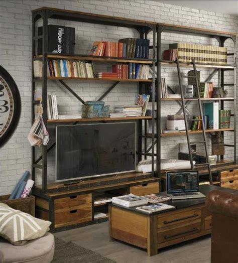Paoletti Industria Mobili industrial e vintage libreria porta tv scala paoletti