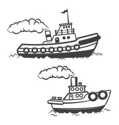 Tugboat Vector Question by Silhouette Of Push Boat Royalty Free Vector Image