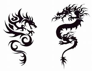 black-white-graphic-color-dragon-tattoos part 3 | 3D ...