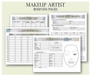 Makeup Artist Business Planner Bundle Freelance Makeup