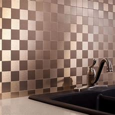 Peel And Stick Matted Metal Backsplash Tiles  Aspect