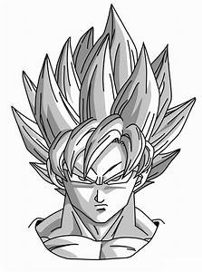 How to Draw Goku Super Saiyan from Dragonball Z - Mangajam.com