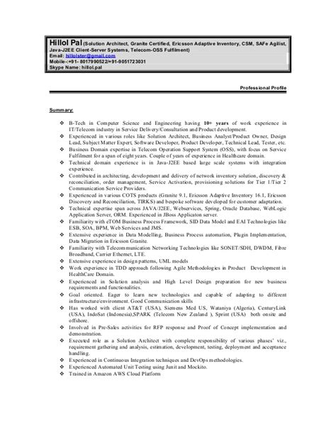 J2ee Technical Architect Resume Sle by J2ee Technical Architect Resume Webpresentation Web Fc2