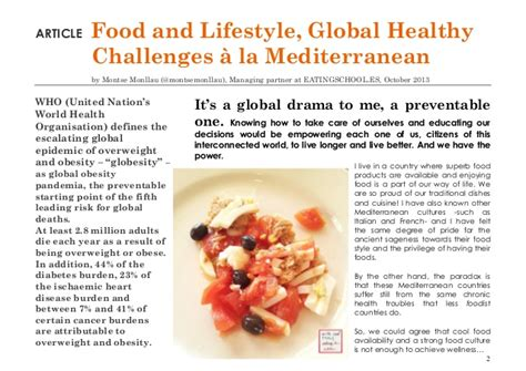 articles cuisine quot food and lifestyle global healthy challenges quot article by