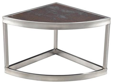 contemporary stainless steel table ls sterling industries sorrento 14 inch triangle corner table