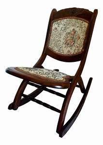 Antique, Folding, Rocking, Chair