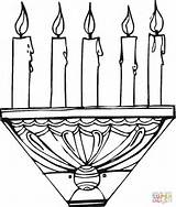 Candle Coloring Stick Candles Holder Flowers Printable sketch template
