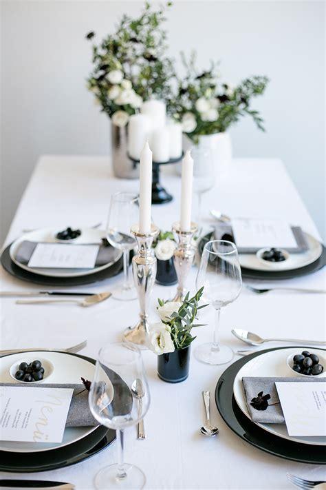 Schwarz Weiß Tischdeko by Hochzeitsdeko Schwarz Wei 223