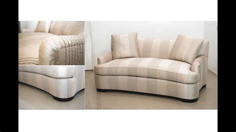 circular loveseat sofa   bob  furniture grey