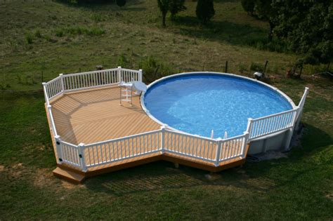 Above Ground Pool Ladder Deck Attachment by Deck Privacy Fence Archadeck Outdoor Living