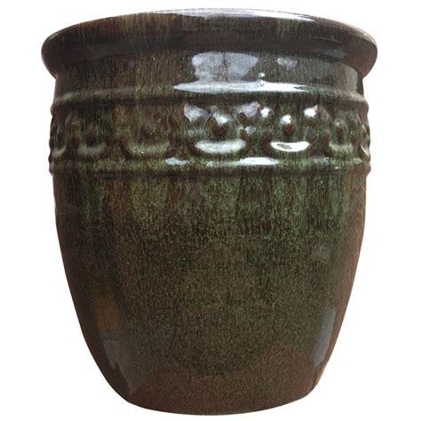 tuscan path pots tuscan path 52cm glazed studded pot i n 2860162 bunnings warehouse