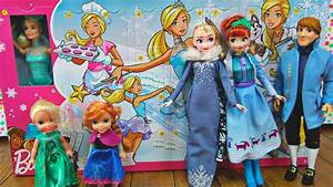 Elsa and Anna toddlers get Barbie's advent calendar - YouTube