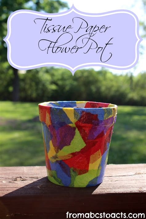 potted paper flower ideas tissue paper flower pot springtime crafts for kid s crafts activities s day
