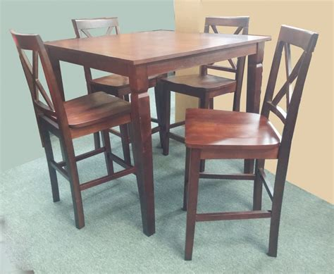 pub table 4 pub chairs wood go direct 1638 dining
