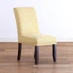 geo yellow anna slipcover chair collection dining room
