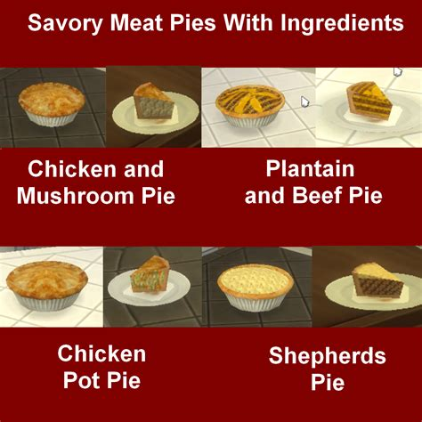 cuisine mod鑞e my sims 4 custom food pies by leniad