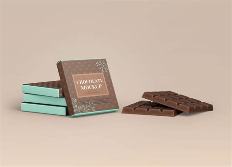 Layered psd easy smart object insertion license: Free Chocolate Bar Packaging Mockup PSD Set - Good Mockups
