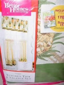 Pineapple Kitchen Curtains by Pineapple Kitchen Tier Amp Valance Set